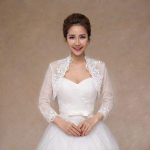 Bridal Shawl Wholesale New Design Wedding Jacket with Lace Edge pictures & photos
