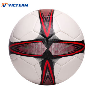 Optimal Machine-Sewn Particle Surface Soccer Ball pictures & photos