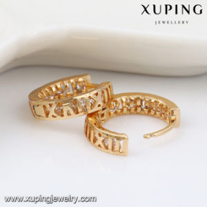 91912 Fashion Hot Sale 18k Gold Zircon Hoop Earring pictures & photos