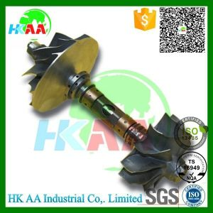 Ts16949 Standard 5-Axis Simultaneous Motion CNC Machined Stainless Steel Titanium Bearing Turbine Shaft pictures & photos