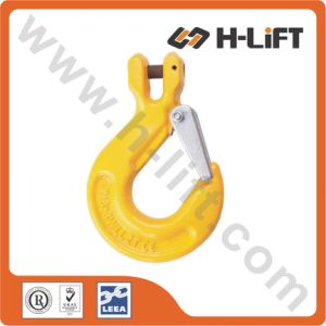 Grade 80 Alloy Steel Clevis Sling Hook with Safety Latch pictures & photos
