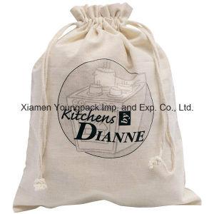 Promotional Customized 100% Natural Organic Cotton Drawstring Sack Bag pictures & photos