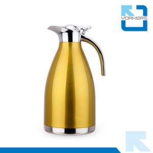 High Quality Stainless Steel Vacuum Coffee Pot & Kettle with Zinc Alloy Swivel Lid pictures & photos
