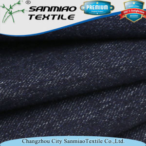 Cotton Spandex Indigo Heavy Twill Knitting Wash Denim Fabric for Jeans pictures & photos