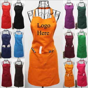 Customized 2 Pockets Terylene Cotton Aprons (PM031) pictures & photos