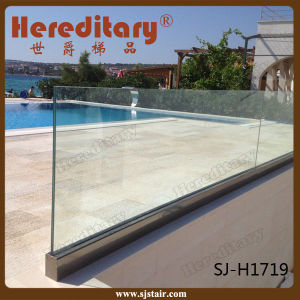 Frost Glass Balustrade / Stair Handrail for Apartment Concrete Stairs (SJ-H4000) pictures & photos
