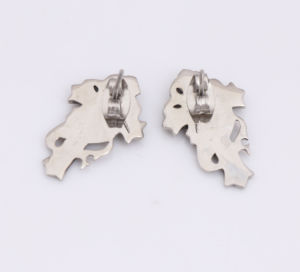 2016 Women Style Stainless Steel Cross Crystal Stud Earrings pictures & photos