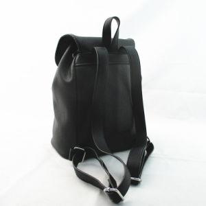 Fashion Black Tassel Drawstring PU Rucksack pictures & photos