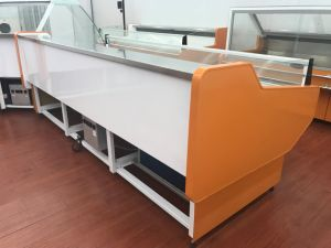Low Noise Fresh Meat Serve Over Display Cooler Counter with Cover pictures & photos