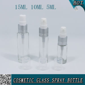 5ml 10 Ml 15ml Clear Perfume Spray Glass Bottle with Lotion Pump pictures & photos