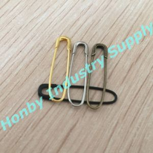 Fishion Design Color Plated Metal U French Coiless Safety Pin