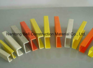 FRP/GRP U-Channel Bar, Fiberlgass Plastic Profile, Pultruded C-Channel. pictures & photos