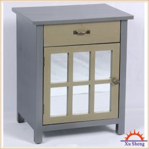 Vintage Style Mirror Front Cabinet, 1door 1 Drawer, Side Table Nightstand pictures & photos