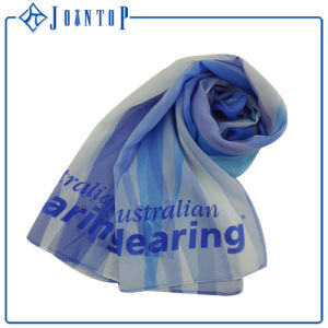 OEM Oversized Screen Printing Polyester Multi Blue Chiffon Scarf pictures & photos