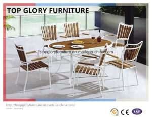 Plastic Wood Dining Set, Garden Dining Set, Plastic Wooden Furniture (TG-1293) pictures & photos
