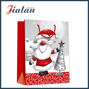 Different Design Wholesales Cheap Logo Made Paper Boutique Christmas Bag pictures & photos