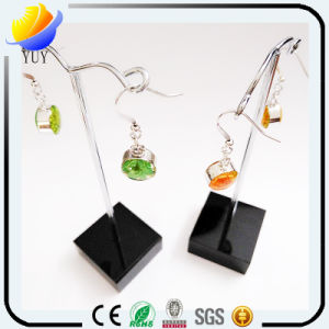 Colorful Resin Stone with Diamond Pendant Earrings pictures & photos