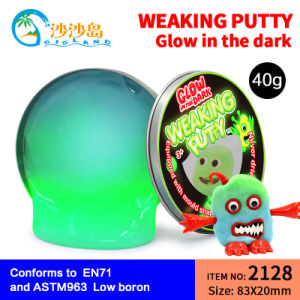 DIY Toys Bounce Ball Glow in The Dark Clay Elastic Putty