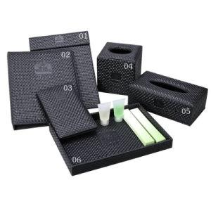 Black Straw Mat Rectangle Facial Napkin Storage Tissue Box pictures & photos