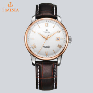 Automatic Mechanical Mens Classic Leather Business Wrist Watch72570 pictures & photos