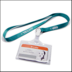 Business Silk Screen Printing Logo Nylon Lanyard with Metal Clip pictures & photos