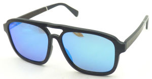 Fqw161236 Wholesale Wooden Frame Square Shape Mens Style Sunglasses pictures & photos
