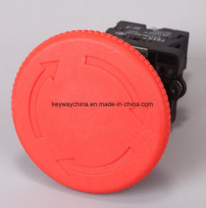 22mm Mushroom Emergency Push Button Switch with Keyway Brand pictures & photos