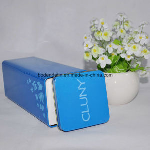 Custom Square Cookie Tin Can with Cmyk Printing pictures & photos