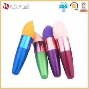 Washami Face Cute Cosmetic Make up Sponge Powder Puff with Handle pictures & photos
