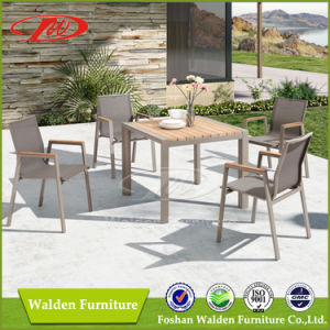 Patio Furniture 5 Piece Garden Furniture Set with Aluminium Chairs and Wood Table pictures & photos