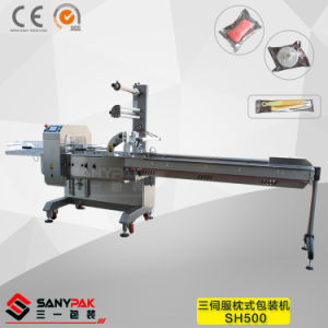 Biscuit/Bread/Soft Sweets Auto Three Servo Pillow Wrapping Machine pictures & photos