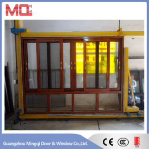 3 Tracks Double Glass Aluminum Sliding Window with Wire Mesh pictures & photos