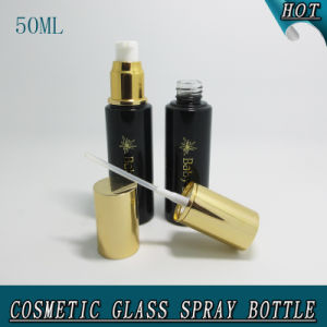 50ml Dark Black Empty Glass Lotion Pump Perfume Bottle pictures & photos
