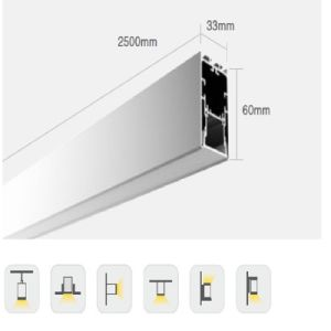 P/N3360 LED Linear System Aluminum Profile Light, Extrusion Channel Diffuser pictures & photos