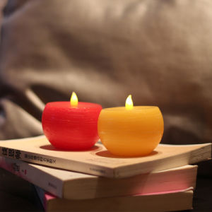 Yellow/Red Round Flameless LED Tea Light Candle for Birthday and Wedding pictures & photos