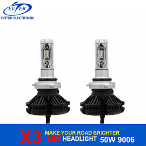 Automobile Lighting 50W 6000lm X3 9006 Hb4 LED Auto Headlight with Philips LED Chips pictures & photos