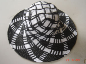 Big Brim Straw Hat with Pattern pictures & photos