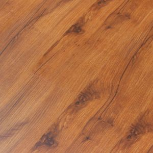 12mm HDF Brown Core Laminate Flooring with Wax pictures & photos