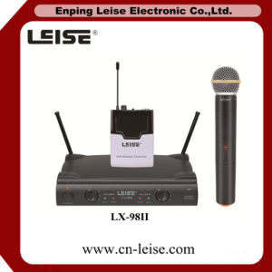 Lx-98II Fixed Frequency Dual Channel UHF Wireless Microphone