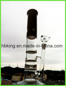 New Coming Jade Triple 2 Layers Honeycomb Disc Percolate Glass Smoking Water Pipe pictures & photos