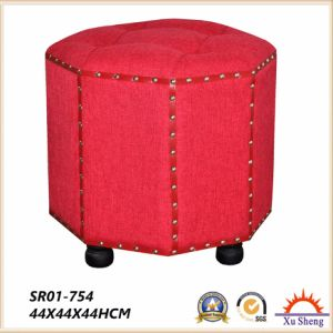 modern Furniture Fabric Button Tufted Ottoman Foot Rest Stool pictures & photos