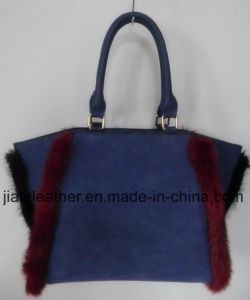 Ladies lovely handbag with hit color trim WT0042-1