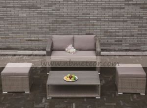 Mtc-299 Outdoor Garden Promotion 4 PCS Sofa Set in 1 Carton Poly Rattan pictures & photos