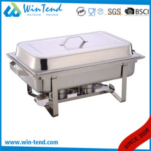 Hot Sale Electrolytic Stainless Steel Economic Buffet 433 Chafing Dish with Fuel Holder pictures & photos