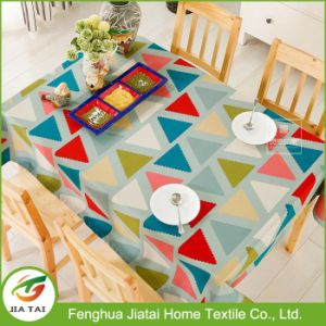 Custom Wholesale Waterproof Pattern Design Home Dining Tablecloth