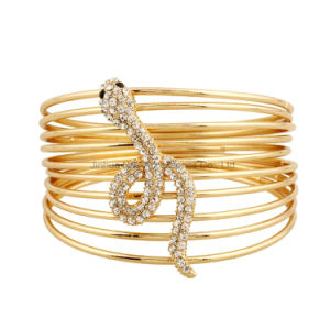 2017 Fashion Bangles Women Punk Rock Crystal Multilayer Snake Gold Bracelets Jewelry pictures & photos