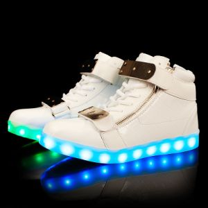 High Top Waterproof Fashion Lace-up Sport Shoe Men Flashing LED Light Shoes 2016 pictures & photos