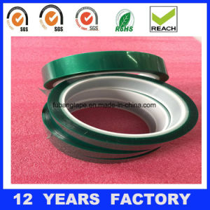 Thermal Insulation Adhesive Tape Pet High Temperature Green Polyester Silicone Adhesive Tape, pictures & photos