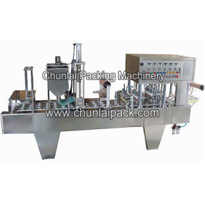 Inline Plastic Cup Filling Sealing Machine pictures & photos
