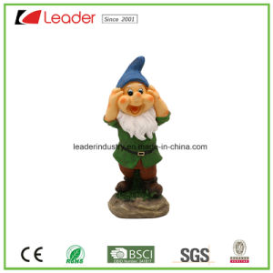 High Quality Polyreisn Garden Decorative Dwarf Figurine See No Evil for Outdoor Decoration pictures & photos